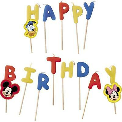 Mickey Mouse Happy Birthday Toothpick Cake Candles
