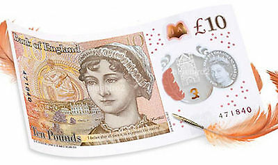 NEW QEII polymer £10 ten pound note (pre order) for dispatch on the day of issue