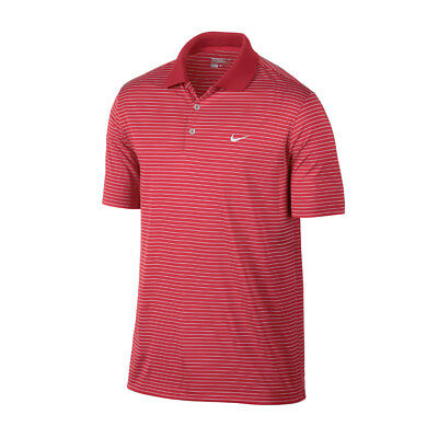 NEW Nike Victory Stripe Polo LC - Daring Red [Size: Medium]
