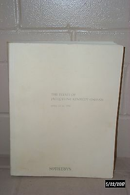 Sotheby's The Estate Of Jacqueline Kennedy Onassis Catalog Excellent