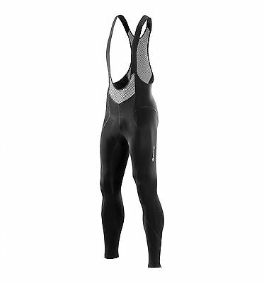 SKINS CYCLE MEN'S COMPRESSION TIGHTS BIB LONGS BLACK SIZE L (Large) BNWT