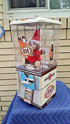 A&w Root Beer Gumball Candy Peanut Vending Soda Fountain Machine / Sign /cola