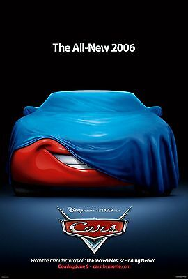 """Disney's Pixar CARS 2006 Advance Teaser Ver A DS 2 Sided 27x40"""" US Movie Poster"""