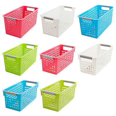 Japanese-style Stackable Plastic Storage Baskets/Bins Organizer Fruit Toys P6P2