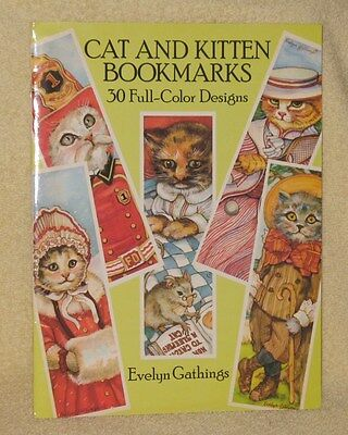 Vintage Evelyn Gathings Cats And Kittens Bookmark Book 30