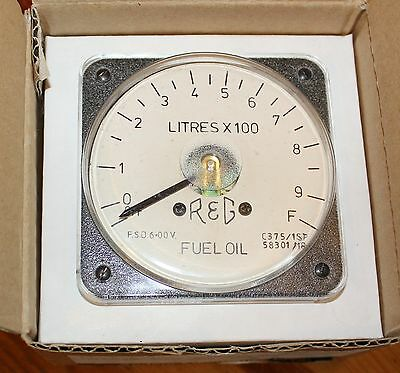 Anders Oxford Range 240 Degree Meter, 6V FSD, Scale 0 - 1000L, GWO, NOS, Boxed