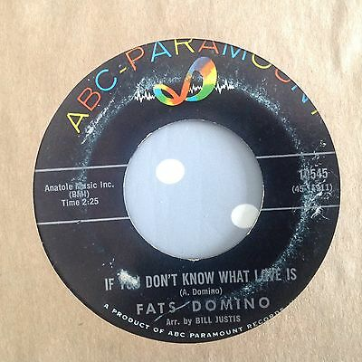 Fats Domino - If You Don't Know What Is /something You Got Baby -Abc 10545 Vg+