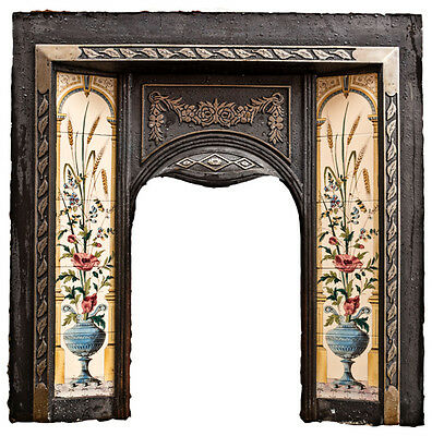 Cast Iron Tiled Victorian Fireplace Surround