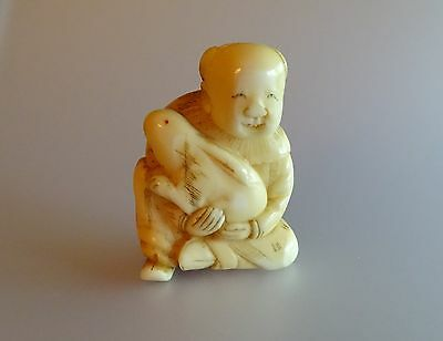 Netsuke Karako and Rabbit