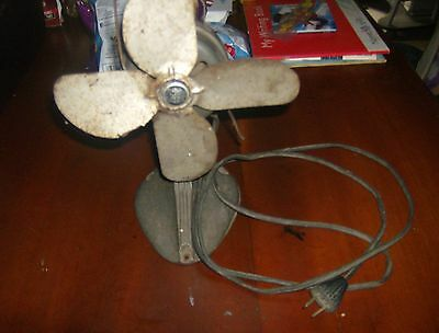 Vintage early 1900's Working Cold Wave Metal/Cast Iron Desk Fan!!