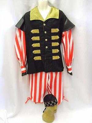 """Stripey Pirate Fancy Dress ~  38""""  - 40"""" chest  S ~ Hire Quality Costume"""