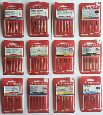 Singer Sewing Machine Needles - All Styles / Sizes - Domestic Standard Ballpoint