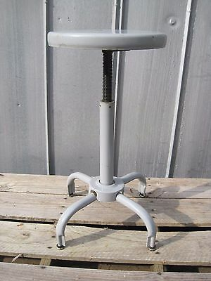 Vintage Industrial Lab Shop Stool Metal Adjustable Height  B6709