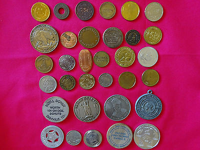 LOT OF (33) MEDALS & TOKENS, EXONUMIA COLLECTION  d681