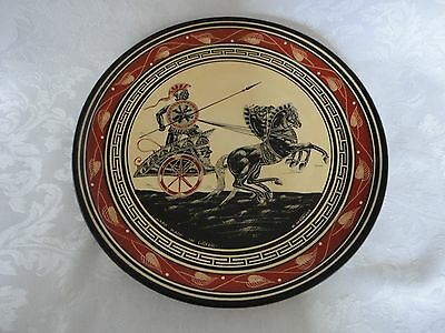 Vintage Greek Decorative Ceramic Wall Hanging Plate Hand Made In Greece
