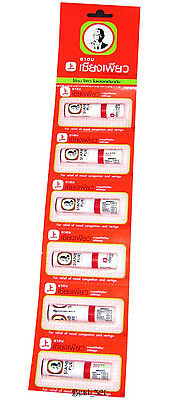 6 pcs. Siang Pure Nasal Dizziness Inhaler Bracing Breezy Asthma Refresh