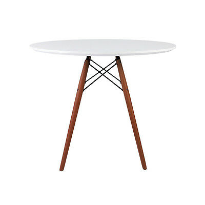 Round Dining Table or Coffee Table Available in Various Sizes - White or Walnut!