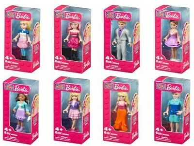 Mega Bloks Barbie Collection Mini Fashion Figures 6cm 8 Pieces For Ages 4 And Up
