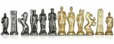 Italfama Romans and Barbarians Metal Chessmen