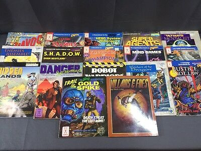 VTG Lot of 17 Hero Games Champions RPG Role Playing Sourcebooks Adventures