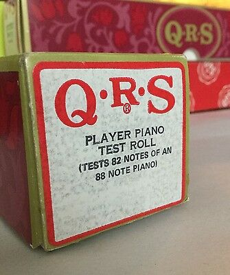 Vintage QRS Player Piano TEST ROLL - Tests 82 Notes of 88 Note Piano
