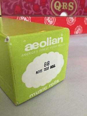 Vintage AEOLIAN Player Piano 88 NOTE TEST ROLL Music Roll