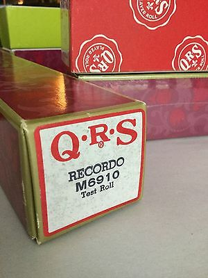 Vintage QRS Player Piano RECORDO M6910 TEST ROLL