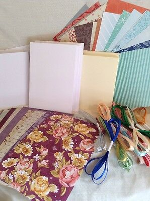 Craft Clearout for Card Making Assortment of Papers, cards and envelopes