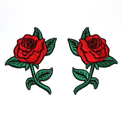 Red Rose Flower Lady Rider Tattoo Motorcycles Biker Harley Jacket Bag Iron Patch