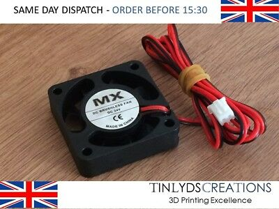 24v dc Brushless Extruder Fan 4010-c/w 1 metre cable (0.15a)CTC 3d printer part