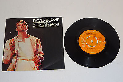 "DAVID BOWIE BREAKING GLASS + 2 1978 RCA VICTOR 7"" UK 1st PRESS, P/S"