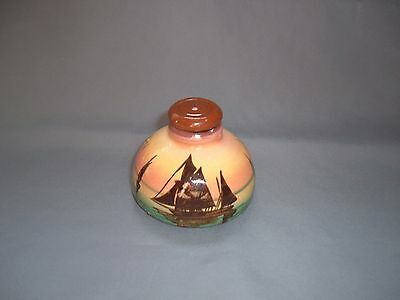 Torquay Pottery,  Sunset Ship Inkwell with Stopper,   ( 71 )