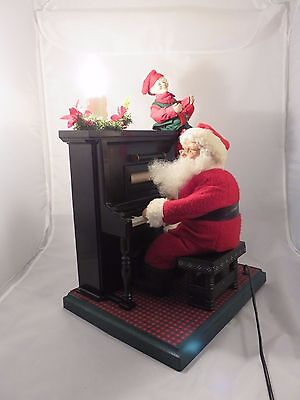 1993 Holiday Creations Animated Sing-Along w/ Santa Lampe mit Cassette Player