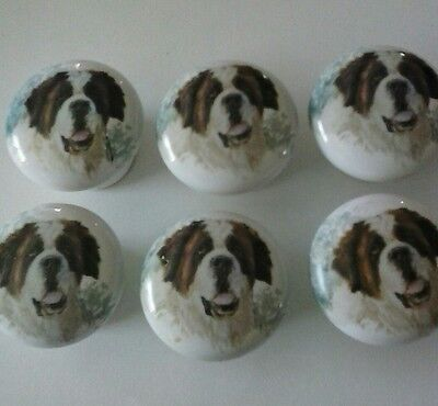 porcelein saint bernard knobs-REDUCED