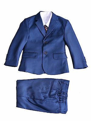 Boys Formal Suits Wedding PageBoy Party Prom 5 Piece Suit 2-12 Years Blue Grey