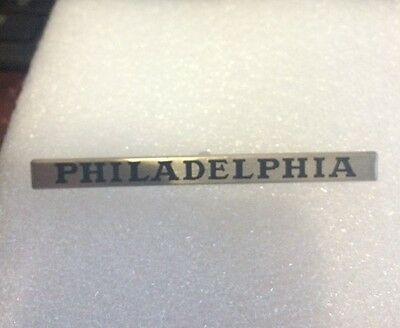 Lionel Mth Prewar Std Gauge Philadelphia Nickel Nameplate  Actual Mth Part
