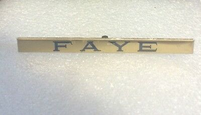 Lionel Mth Prewar Std Gauge Brass Faye Car Nameplate Actual Mth Part