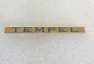 Lionel Mth Prewar Std Gauge Tempel Car Brass Nameplate  Actual Mth Part