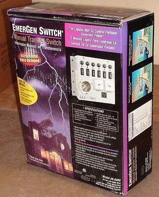 Emergen Generator Manual Transfer Switch #6-5000 Connecticut Electric - NEW