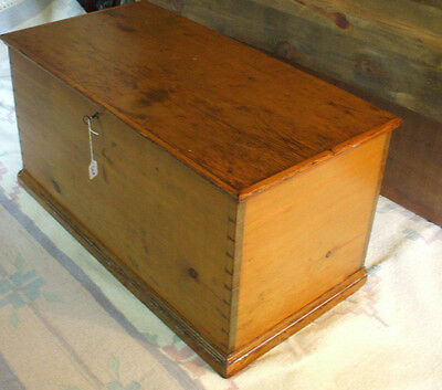 Early American Pine Blanket Chest New England c. 1800