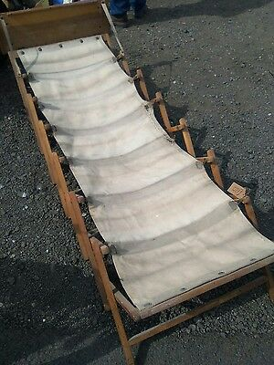 Vintage Army Military Folding Camp Bed rare ww1