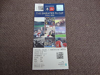 Crystal Palace V Manchester United Fa Cup Final 2016 Ticket
