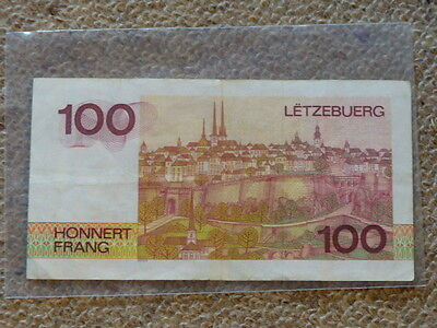 100 Cent Francs Luxembourg Note 1980 VF