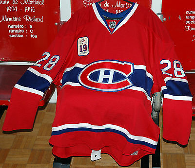 Montreal Canadiens Game Worn Sweater - Larry Robinson Night - Kyle Chipchura
