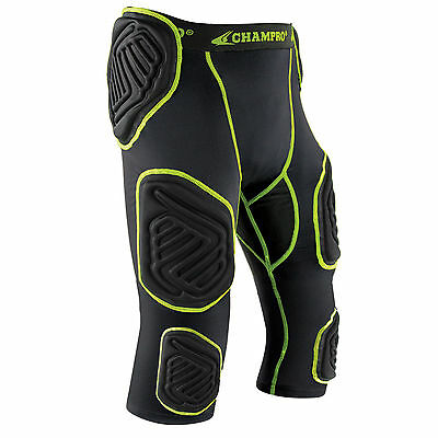 Champro Bull-Rush 7-Pad Integrated Football Girdle Youth and Adult Padded Shorts