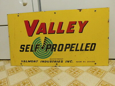 Valley Propelled Porcelain Advertising Sign Irrigation Agriculture Farming
