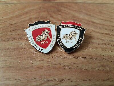 Belle Vue army speedway badges in gold from 2014