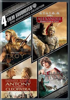 4 Film Favorites Epic Adventures Collection: Troy + More Box / DVD Set NEW!
