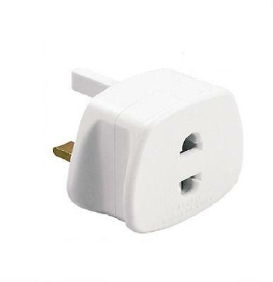 UK ELECTRIC POWER EU 2Pin To 3Pin SHAVER TOOTHBRUSH CHARGER ADAPTOR PLUG CONVERT