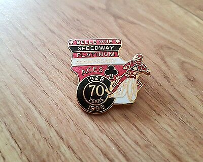 Belle Vue Speedway badge in gold from 1998